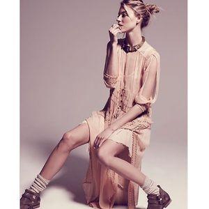 Free People New Romantics Sheer Lurex Maxi Dress